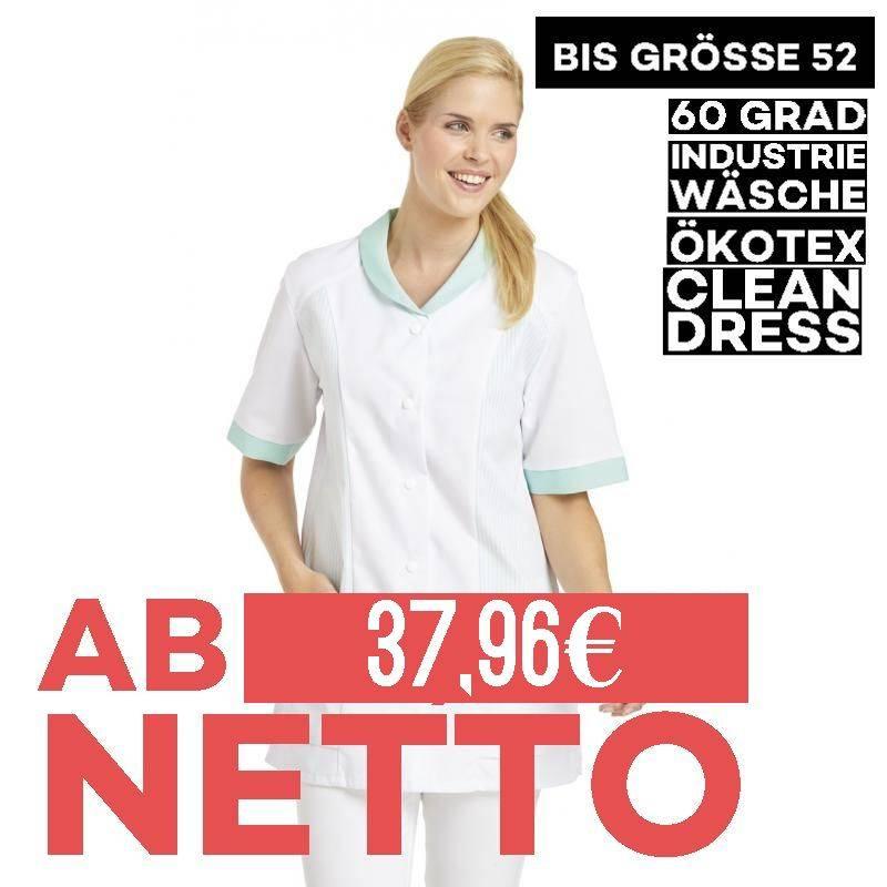 Damen -  Hosenkasack 800 von LEIBER / Farbe: weiß-mint / 65 % Polyester 35 % Baumwolle - 1