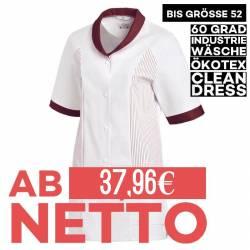 Damen -  Hosenkasack 800 von LEIBER / Farbe: weiß-bordeaux / 65 % Polyester 35 % Baumwolle - | MEIN-KASACK.de | kasack |
