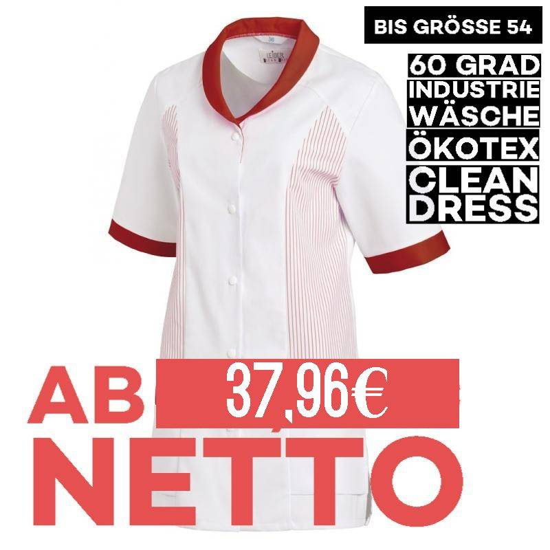 Damen -  Hosenkasack 800 von LEIBER / Farbe: weiß-rot / 65 % Polyester 35 % Baumwolle - 1