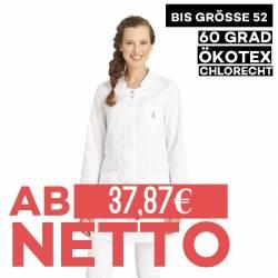 Damen -  Longkasack 2503 von LEIBER / Farbe: weiß /  50% Baumwolle 50% Polyester ca. 180 g/m² - 1