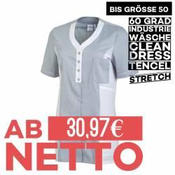 Damen - TENCEL-Kasack 2789 von LEIBER / Farbe: weiß-grau / 50% Baumwolle, 50% Polyester - 1