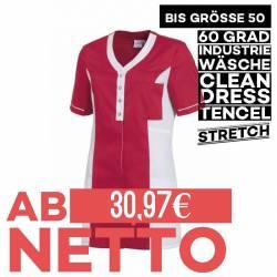Damen - TENCEL-Kasack 2789 von LEIBER / Farbe: rot-weiß / 50% Baumwolle, 50% Polyester - 1