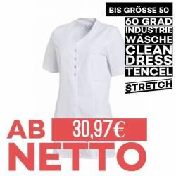 Damen - TENCEL-Kasack 2789 von LEIBER / Farbe: weiß-weiß / 50% Baumwolle, 50% Polyester - 1