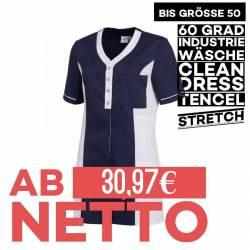 Damen - TENCEL-Kasack 2789 von LEIBER / Farbe: marine-weiß / 50% Baumwolle, 50% Polyester - 1
