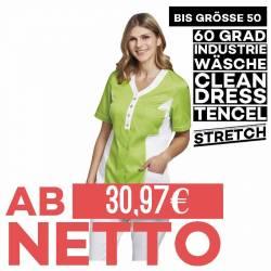 Damen - TENCEL-Kasack 2789 von LEIBER / Farbe: weiß-grün / 50% Baumwolle, 50% Polyester - 1