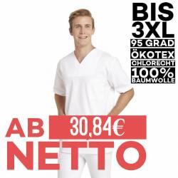 Herren - Schlupfjacke 223 von LEIBER / Farbe: weiß / 100% Baumwolle Feinköper - 1