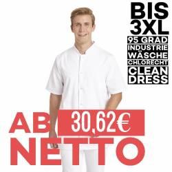 Herren-Kasack / Longkasack - 9940 von LEIBER / Farbe: weiß / 65 % Polyester 35 % Baumwolle - 1