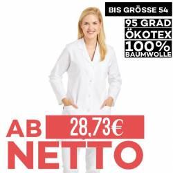 Damen-Kasack / Longkasack -  471 von LEIBER / Farbe: weiß / 100 % Baumwolle Feinköper - 1