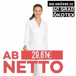 Damenkasack / Longkasack - 2434 von LEIBER / Farbe: weiß / 65 % Polyester 35 % Baumwolle - 1