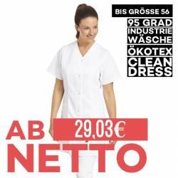 Damen -  Kasack 459 von LEIBER / Farbe: weiß / 65 % Polyester 35 % Baumwolle - 1