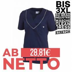 Damen - STRETCH-Kasack / Schlupfjacke 2788 von LEIBER / Farbe: marine-weiß / 50% Baumwolle, 50% Polyester - 1