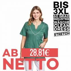 Damen - STRETCH-Kasack / Schlupfjacke 2788 von LEIBER / Farbe: olive-weiß / 50% Baumwolle, 50% Polyester - 1