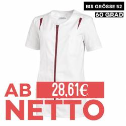 Damen -  Hosenkasack 2533 von LEIBER / Farbe: weiß-beere / 65 % Polyester 35 % Baumwolle - 1
