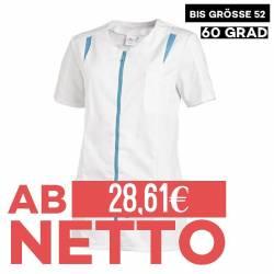 Damen -  Hosenkasack 2533 von LEIBER / Farbe: weiß-türkis / 65 % Polyester 35 % Baumwolle - 1