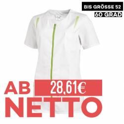 Damen -  Hosenkasack 2533 von LEIBER / Farbe: weiß-hellgrün / 65 % Polyester 35 % Baumwolle - 1