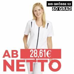 Damen -  Hosenkasack 2533 von LEIBER / Farbe: weiß-marine / 65 % Polyester 35 % Baumwolle - 1