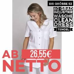 Damen - TENCEL-Kasack 1336 von LEIBER / Farbe: weiß / 48% Tencel, 48% Polyester, 4% Elastolefin -   MEIN-KASACK.de   kas