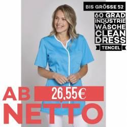 Damen - TENCEL-Kasack 1337 von LEIBER / Farbe: türkis / 50% Baumwolle, 50% Polyester -   MEIN-KASACK.de   kasack   kasac