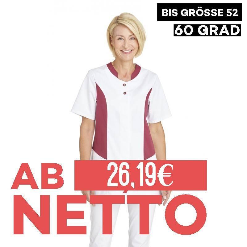 Hosenkasack 25070 von LEIBER / Farbe: weiß-beere / 50 % Polyester 50 % Baumwolle - | MEIN-KASACK.de | kasack | kasacks |