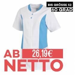 Hosenkasack 25070 von LEIBER / Farbe: weiß-türkis / 50 % Polyester 50 % Baumwolle - | MEIN-KASACK.de | kasack | kasacks