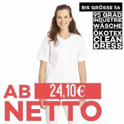Damen -  Hosenkasack 663 von LEIBER / Farbe: weiß / 50% Baumwolle 50% Polyester - | MEIN-KASACK.de | kasack | kasacks |