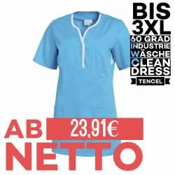 Damen - TENCEL-Kasack / Schlupfjacke 1335 von LEIBER / Farbe: türkis / 50% Baumwolle, 50% Polyester -   MEIN-KASACK.de  