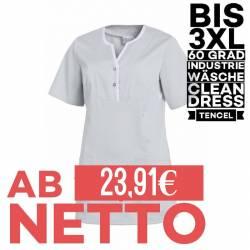 Damen - TENCEL-Kasack / Schlupfjacke 1335 von LEIBER / Farbe: silbergrau / 50% Baumwolle, 50% Polyester -   MEIN-KASACK.