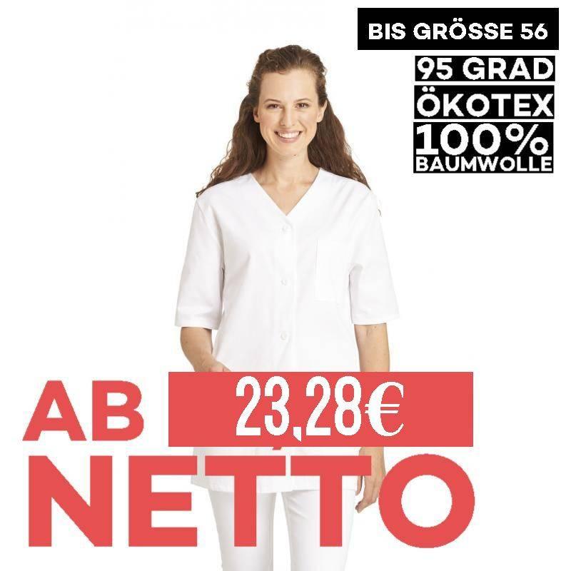 Damen -  Hosenkasack 448 von LEIBER / Farbe: weiß / 100% Baumwolle Feinköper - | MEIN-KASACK.de | kasack | kasacks | kas