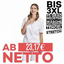 Damen - TENCEL-STRETCH-Kasack / Schlupfjacke 2791 von LEIBER / Farbe: weiß / 50% Baumwolle, 50% Polyester - | MEIN-KASAC