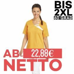 Damen -  Schlupfjacke 1255 von LEIBER / Farbe: sun (orange) / 65 % Polyester 35 % Baumwolle - | MEIN-KASACK.de | kasack