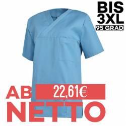 Damen - Schlupfjacke 2451 von LEIBER / Farbe: türkis / 65 % Polyester 35 % Baumwolle - | MEIN-KASACK.de | kasack | kasac