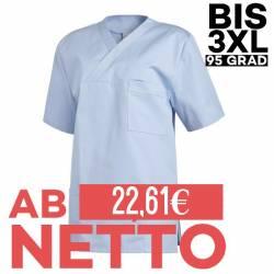 Damen - Schlupfjacke 2451 von LEIBER / Farbe: hellblau / 65 % Polyester 35 % Baumwolle - | MEIN-KASACK.de | kasack | kas