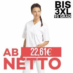 Damen - Schlupfjacke 2451 von LEIBER / Farbe: weiß / 65 % Polyester 35 % Baumwolle - | MEIN-KASACK.de | kasack | kasacks