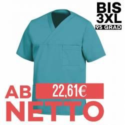 Herren - Schlupfjacke 2451 von LEIBER / Farbe: petrol / 65 % Polyester 35 % Baumwolle - | MEIN-KASACK.de | kasack | kasa