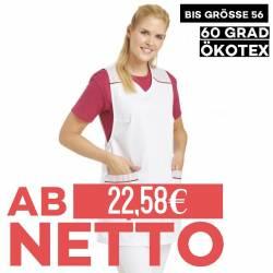 Überwurfschürze 1229 von LEIBER / Farbe: weiß / 65 % Polyester 35 % Baumwolle - | MEIN-KASACK.de | kasack | kasacks | ka