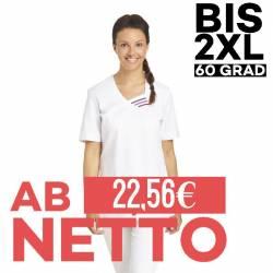 Damen -  Schlupfjacke 585 von LEIBER / Farbe: weiß / 65 % Polyester 35 % Baumwolle - | MEIN-KASACK.de | kasack | kasacks