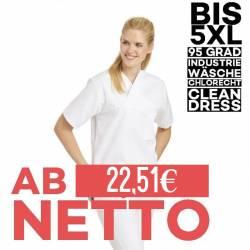 Damen - Schlupfjacke 106 von LEIBER / Farbe: weiß / 50 % Baumwolle 50 % Polyester - | MEIN-KASACK.de | kasack | kasacks