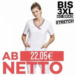 Damen - STRETCH-Kasack / Schlupfjacke 2316 von LEIBER / Farbe: weiß / 65% Polyester, 35% Baumwolle - | MEIN-KASACK.de |