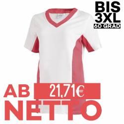 Damen -  Schlupfjacke 2531 von LEIBER / Farbe: weiß-dunkelrosa / 50 % Baumwolle 50 % Polyester - | MEIN-KASACK.de | kasa