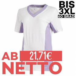 Damen -  Schlupfjacke 2531 von LEIBER / Farbe: weiß-flieder / 50 % Baumwolle 50 % Polyester - | MEIN-KASACK.de | kasack