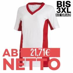 Damen -  Schlupfjacke 2531 von LEIBER / Farbe: weiß-rot / 50 % Baumwolle 50 % Polyester - | MEIN-KASACK.de | kasack | ka