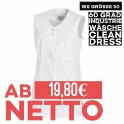Damen -  Kasack 2758 von LEIBER / Farbe: weiß-hellgrün / 65 % Polyester 35 % Baumwolle - | MEIN-KASACK.de | kasack | kas