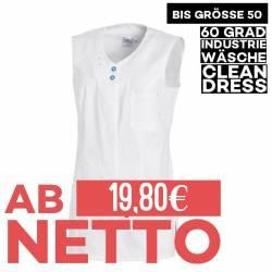 Damen -  Kasack 2758 von LEIBER / Farbe: weiß/türkis / 65 % Polyester 35 % Baumwolle - | MEIN-KASACK.de | kasack | kasac