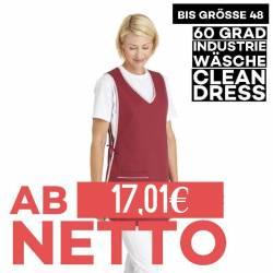 Überwurfschürze 594 von LEIBER / Farbe: bordeaux / 65 % Polyester 35 % Baumwolle - | MEIN-KASACK.de | kasack | kasacks |