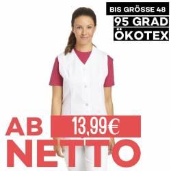 Damen -  Kasack ohne Arm 843 von LEIBER / Farbe: weiß / 65 % Polyester 35 % Baumwolle - | MEIN-KASACK.de | kasack | kasa