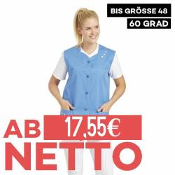Damen -  Kasack ohne Arm 472 von LEIBER / Farbe: blau / 65 % Polyester 35 % Baumwolle - | MEIN-KASACK.de | kasack | kasa