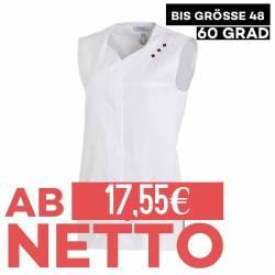 Damen -  Kasack ohne Arm 472 von LEIBER / Farbe: weiß / 65 % Polyester 35 % Baumwolle - | MEIN-KASACK.de | kasack | kasa
