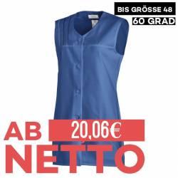 Damen -  Kasack ohne Arm 553 von LEIBER / Farbe: blau / 65 % Polyester 35 % Baumwolle - | MEIN-KASACK.de | kasack | kasa
