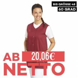 Damen -  Kasack ohne Arm 553 von LEIBER / Farbe: bordeaux / 65 % Polyester 35 % Baumwolle - | MEIN-KASACK.de | kasack |