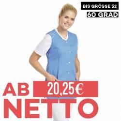Damen -  Kasack ohne Arm 1247 von LEIBER / Farbe: blau / 65 % Polyester 35 % Baumwolle - | MEIN-KASACK.de | kasack | kas